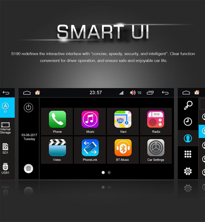 Navigatie android platforma S190 android 7 caraudiomarket craiova